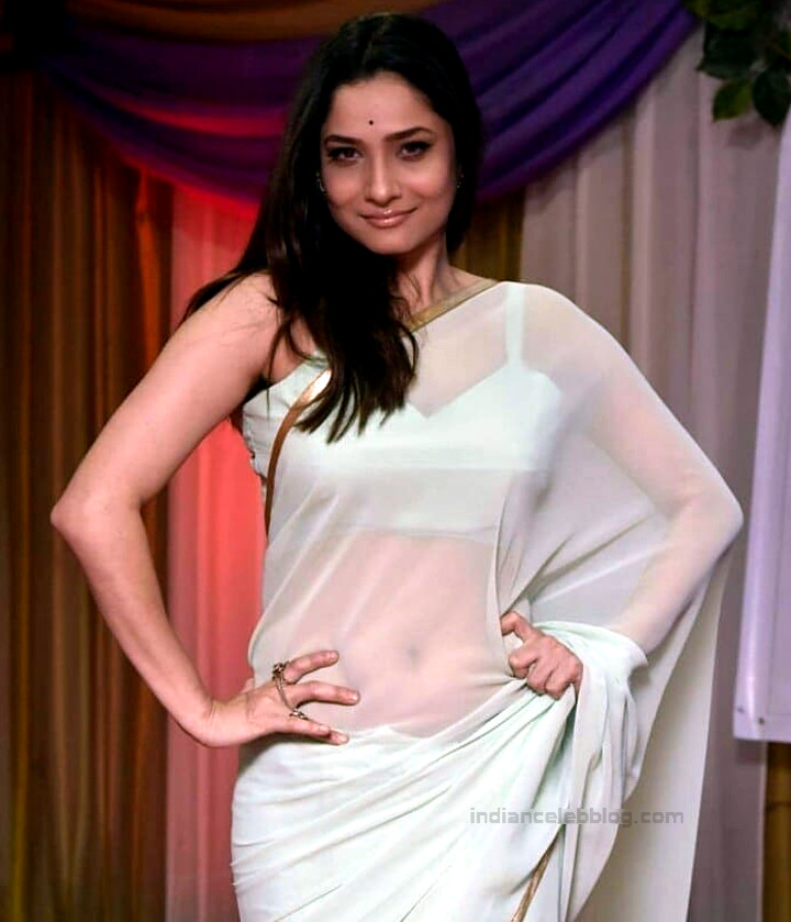 Ankita Lokhande Hindi TV actress CelebTS1 17 hot saree pics
