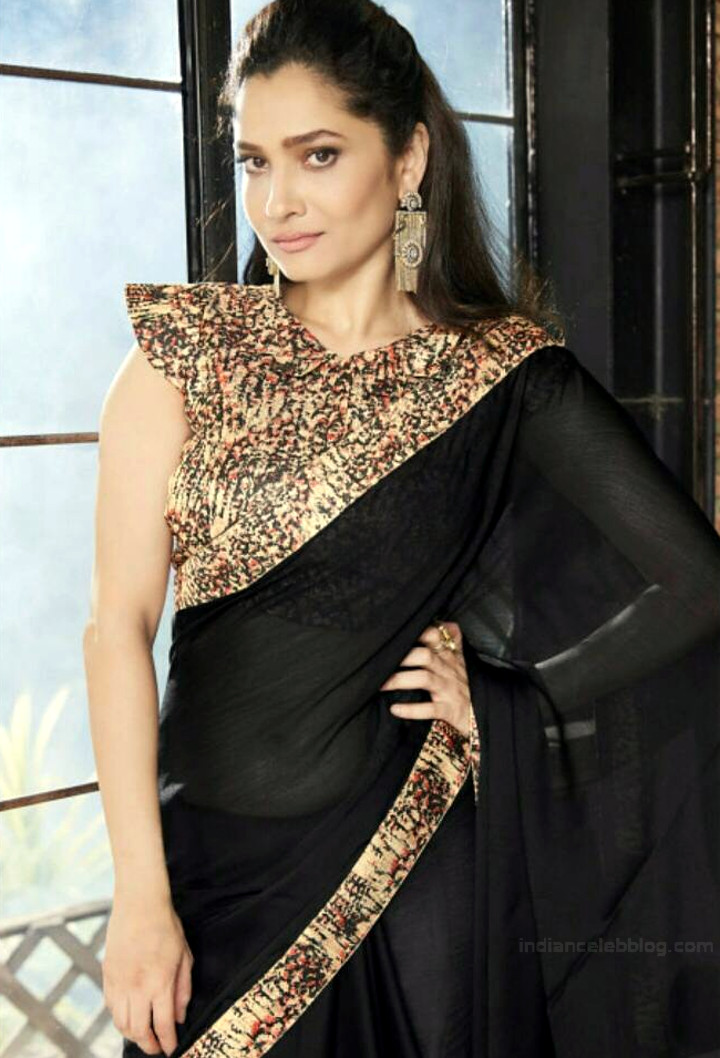 Ankita Lokhande Hindi TV actress CelebTS1 18 hot saree pics