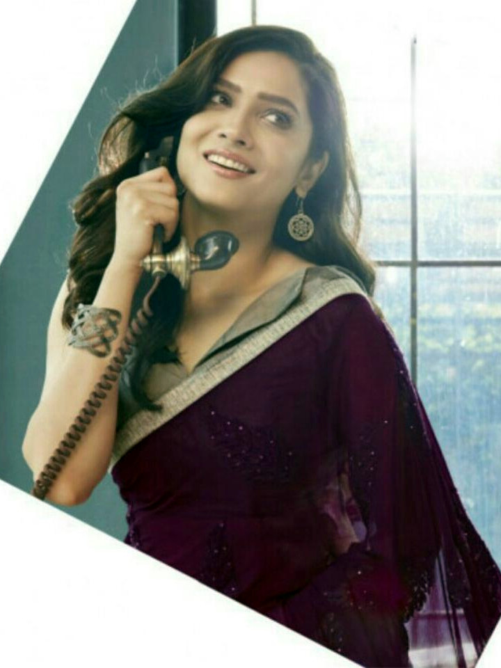 Ankita Lokhande Hindi TV actress CelebTS1 20 hot saree pics