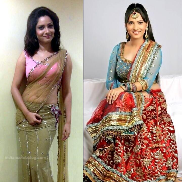 Ankita Lokhande Hindi TV actress CelebTS1 7 hot saree pics
