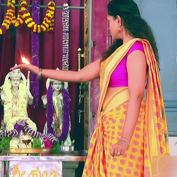 Apoorva Bharadwaj Kannada Serial Sathyam SSS1 14 hot saree photo
