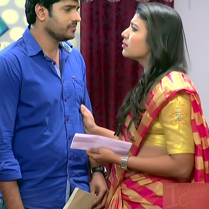 Chandana Raghavendra Kannada TV Actress Sindoora S2 12 hot saree pics