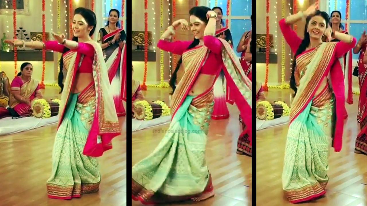 Devoleena Bhattacharjee Hindi TV actress CTS1 15 hot saree pics