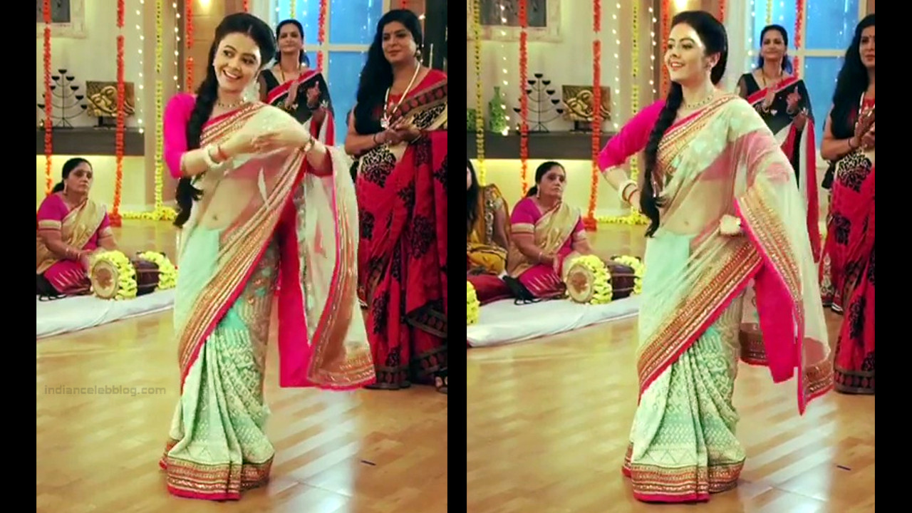 Devoleena Bhattacharjee Hindi TV actress CTS1 16 hot saree pics