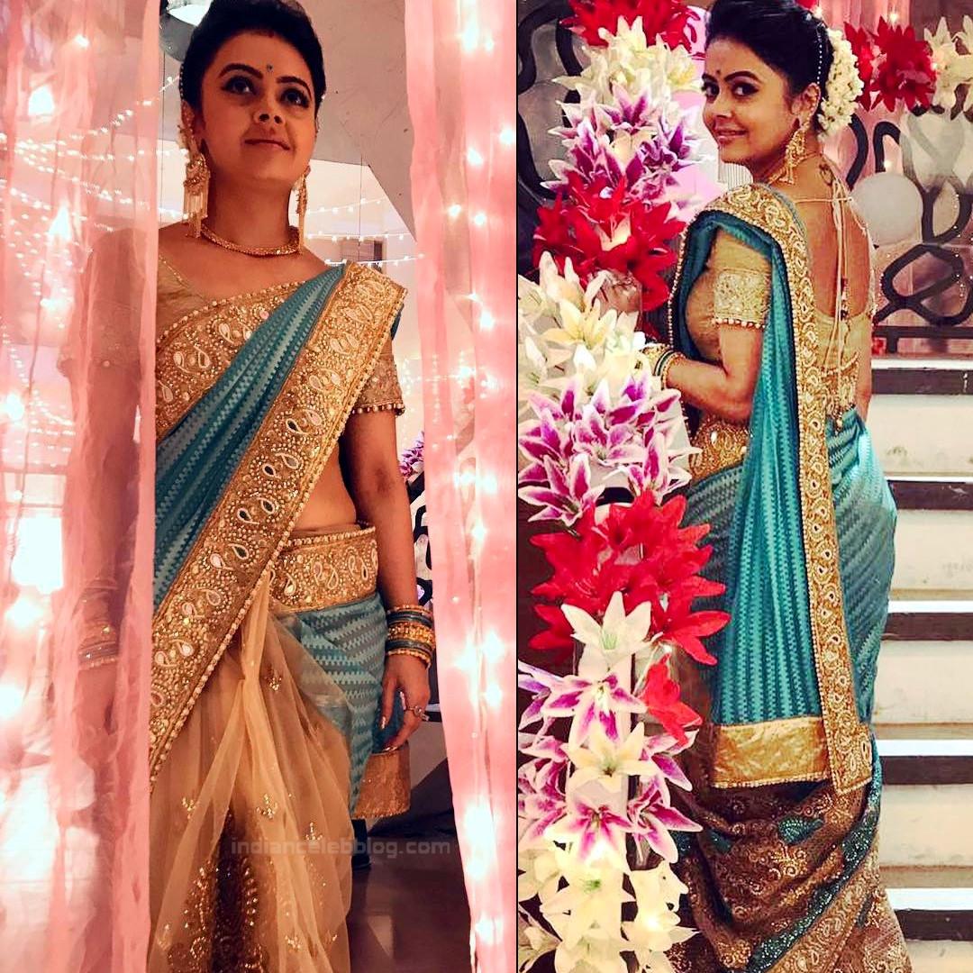 Devoleena Bhattacharjee Hindi TV actress CTS1 4 hot saree pics