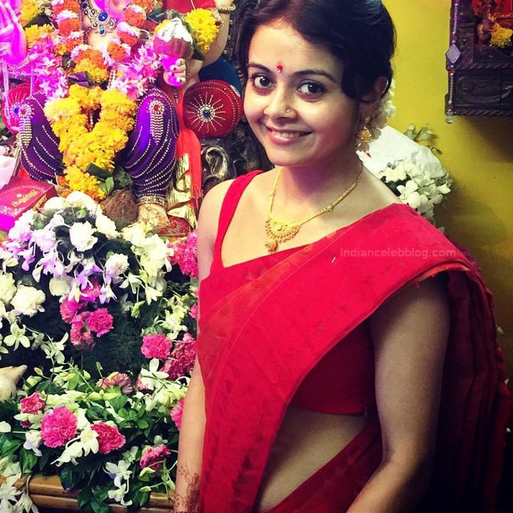 Devoleena Bhattacharjee Hindi TV actress CTS1 8 hot saree pics