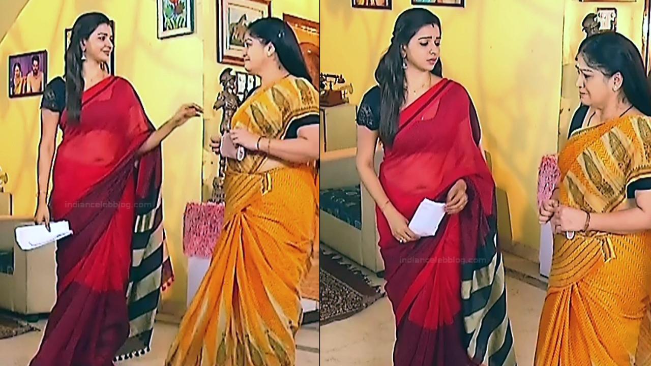 Divya Tamil serial actress Sumangali S32 hot sari photos