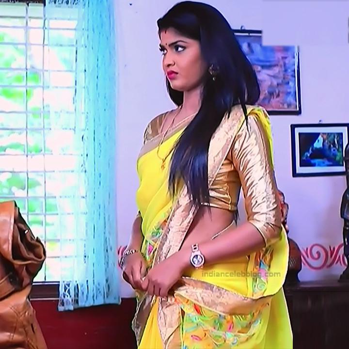 Kannada TV serial actress Bili HS1 12 hot sari caps