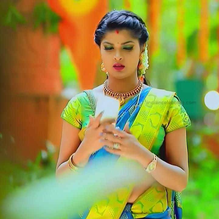 Kannada TV serial actress Bili HS1 3 hot saree caps