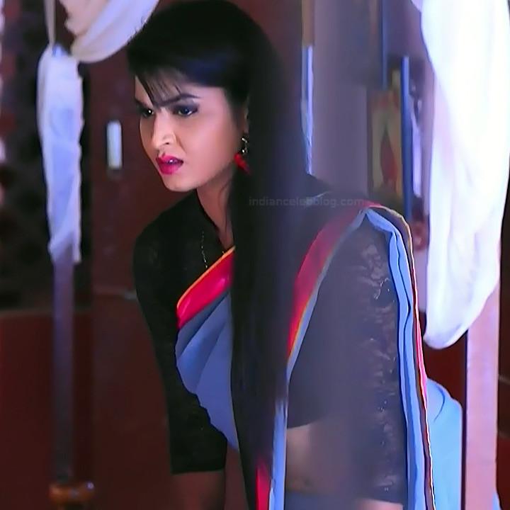 Kannada TV serial actress Bili HS1 8 hot sari caps