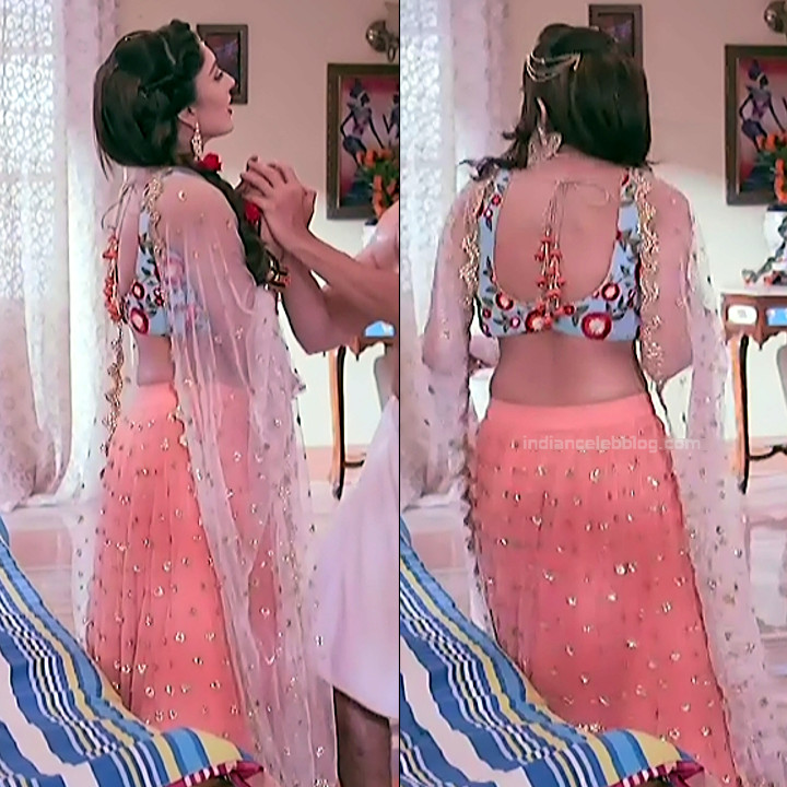 Parvati Vaze hindi TV actress Sajan RPJMBS1 4 backless lehenga pics