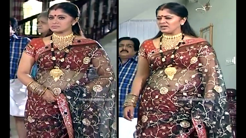 Sudha chandran Tamil TV actress PonDTS1 11 hot saree navel photo