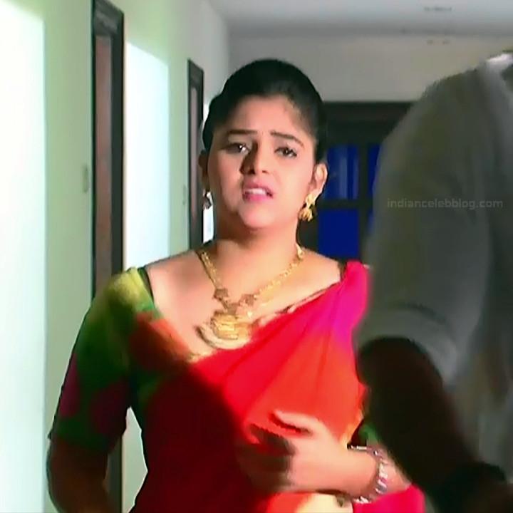 Telugu TV Actress Agnisakshi UnKS1 11 hot saree caps
