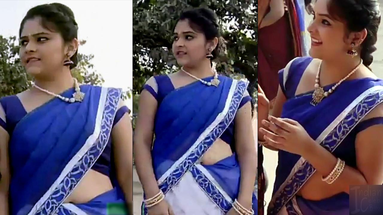 Telugu TV Actress Agnisakshi UnKS1 13 hot saree caps