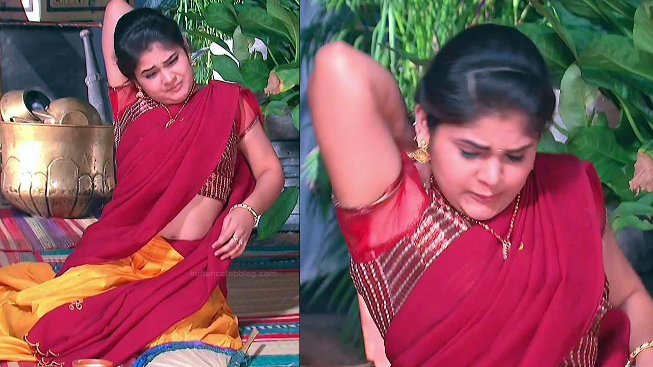 Telugu TV Actress Agnisakshi UnKS1 2 hot saree caps