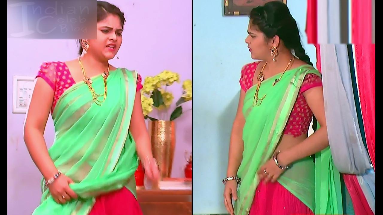 Telugu TV Actress Agnisakshi UnKS1 5 hot saree caps
