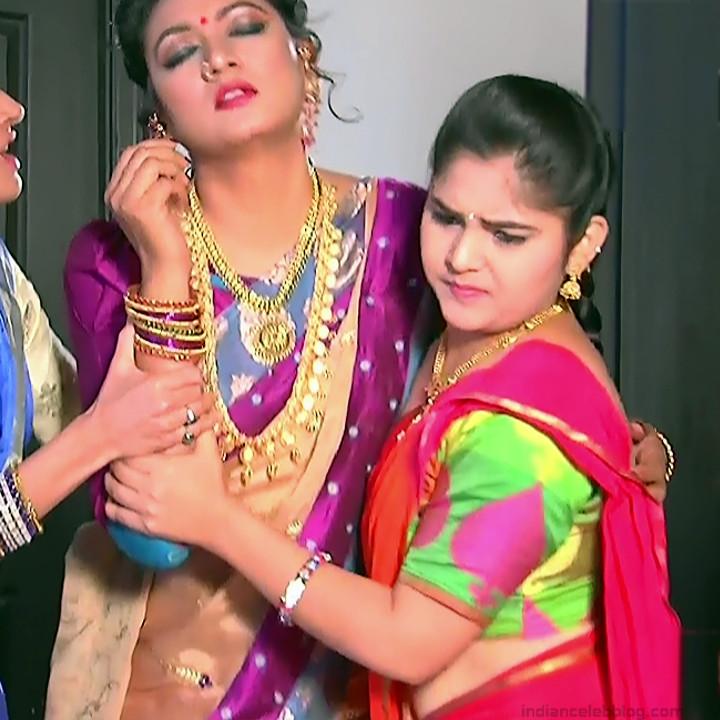 Telugu TV Actress Agnisakshi UnKS1 8 hot saree caps