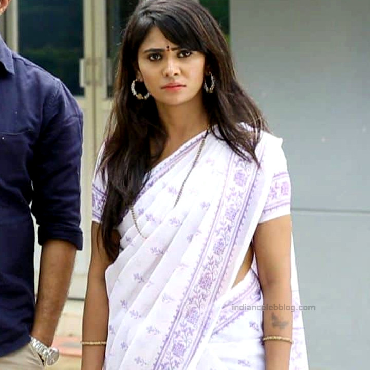 Kavya Gowda Kannada TV actress gandhari 15 hot saree photo