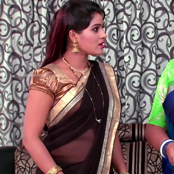Monisha telugu tv actress Nandhini VNS1 18 hot transparent sari caps