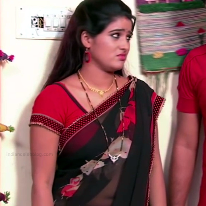 Monisha telugu tv actress Nandhini VNS1 24 hot transparent saree photo