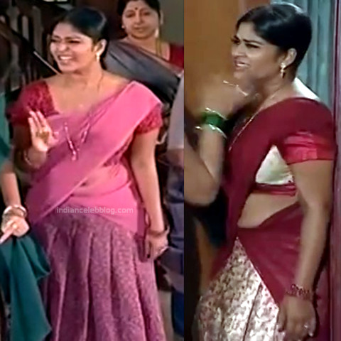Neepa tamil tv actress PonDTS1 3 hot saree navel pics