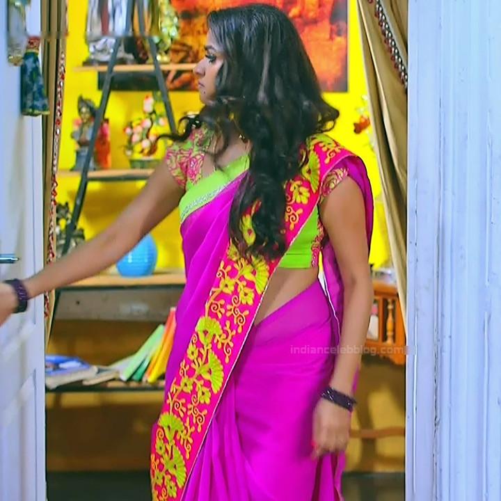 Nithya ram Tamil tv actress Nandhini S1 10 hot sari caps