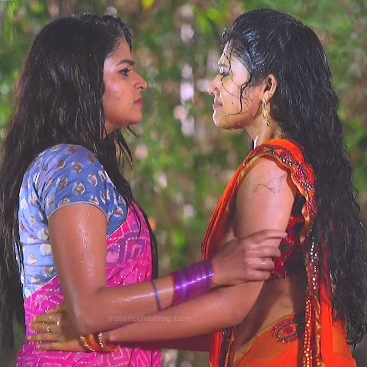 Nithya ram Tamil tv actress Nandhini S1 11 hot sari photo