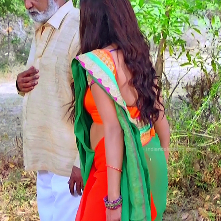 Nithya ram Tamil tv actress Nandhini S1 14 hot saree caps