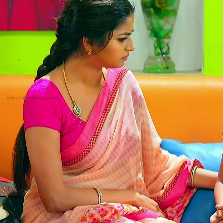 Nithya ram Tamil tv actress Nandhini S1 19 hot saree caps