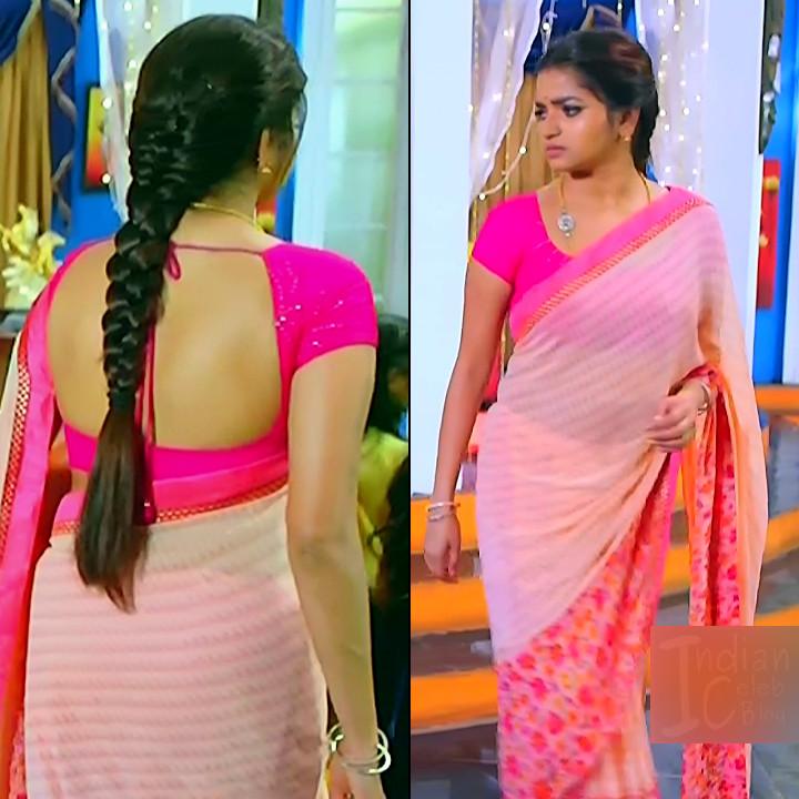 Nithya ram Tamil tv actress Nandhini S1 20 hot saree pics