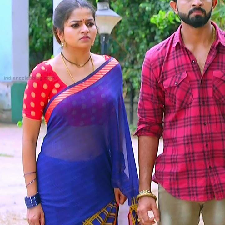 Nithya ram Tamil tv actress Nandhini S1 8 hot sari photo