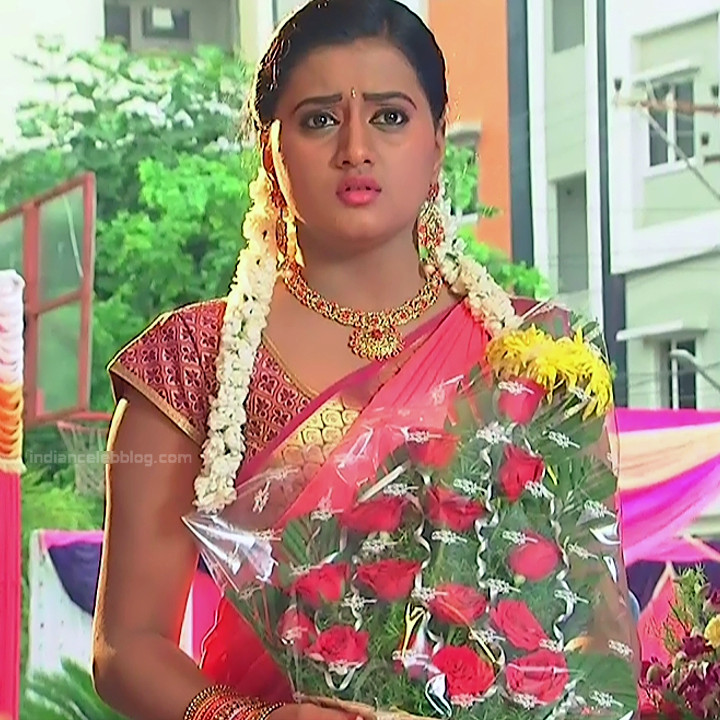 Princy B Krishnan aka Amrutha Telugu Tv actress Kumkuma PS2 9 hot saree photo