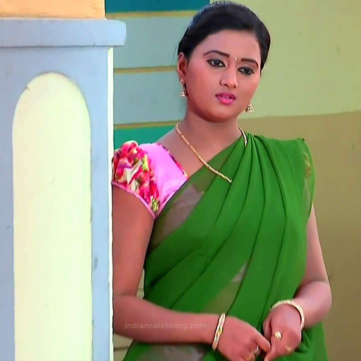 Princy B Krishnan Telugu Tv actress Kumkuma PS2 3 hot saree photo
