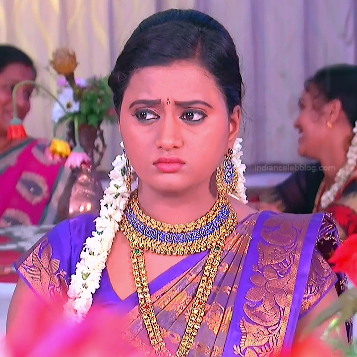 Princy B Krishnan Telugu Tv actress Kumkuma PS2 6 hot saree photo