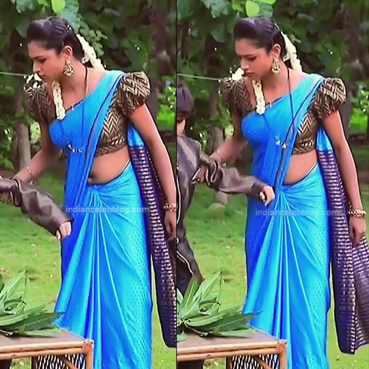 Ruthu Sai Kannada TV actress Putta GMS1 12 hot saree navel pics