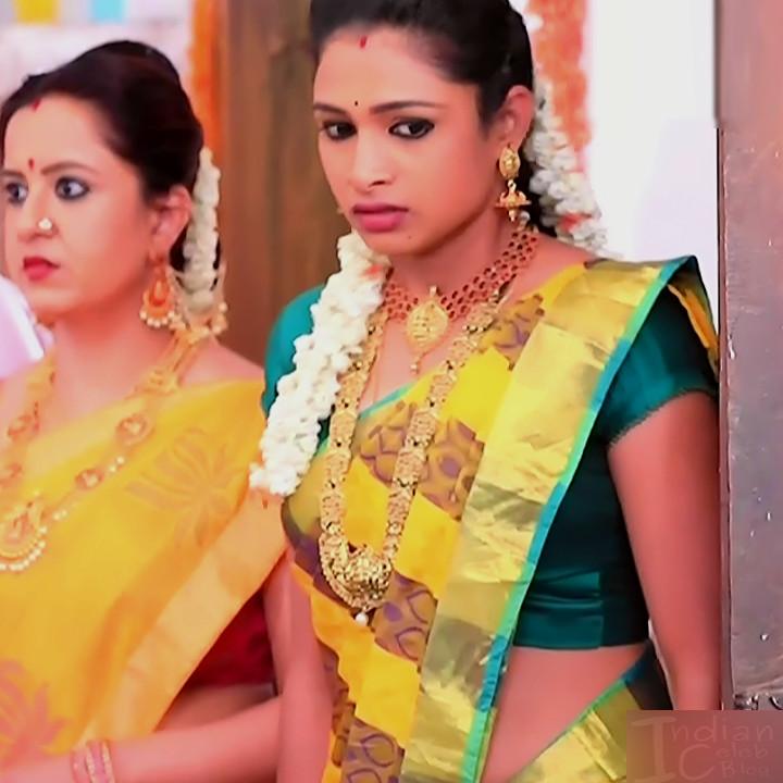 Ruthu Sai Kannada TV actress Putta GMS1 13 hot saree photo