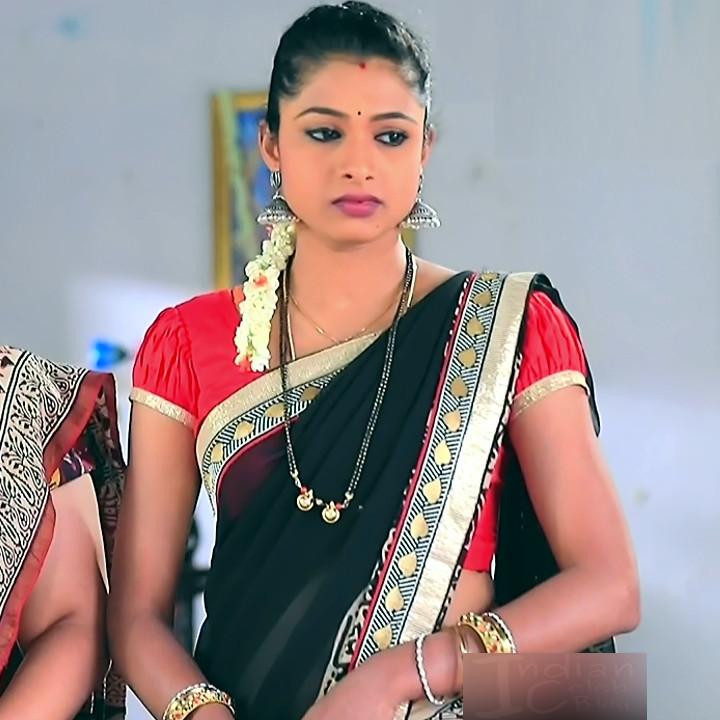 Ruthu Sai Kannada TV actress Putta GMS1 14 hot saree image