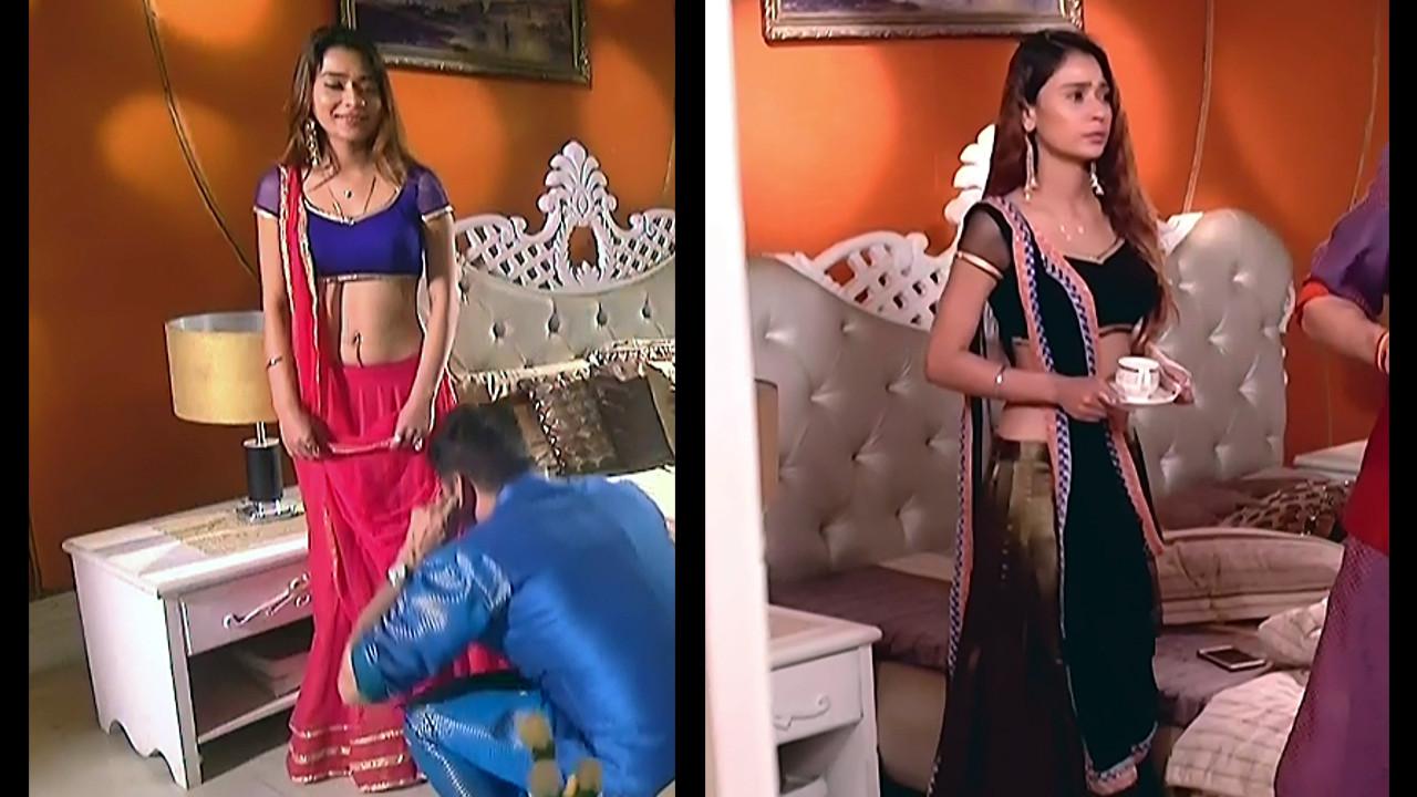 Sara khan hindi serial actress Shakti AS2 5 hot lehenga choli caps