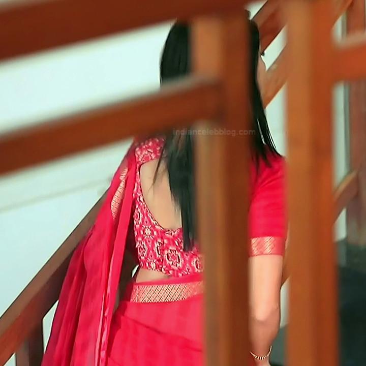 Shwetha R Prasad Kannada TV actress Radha RS1 3 Saree photo