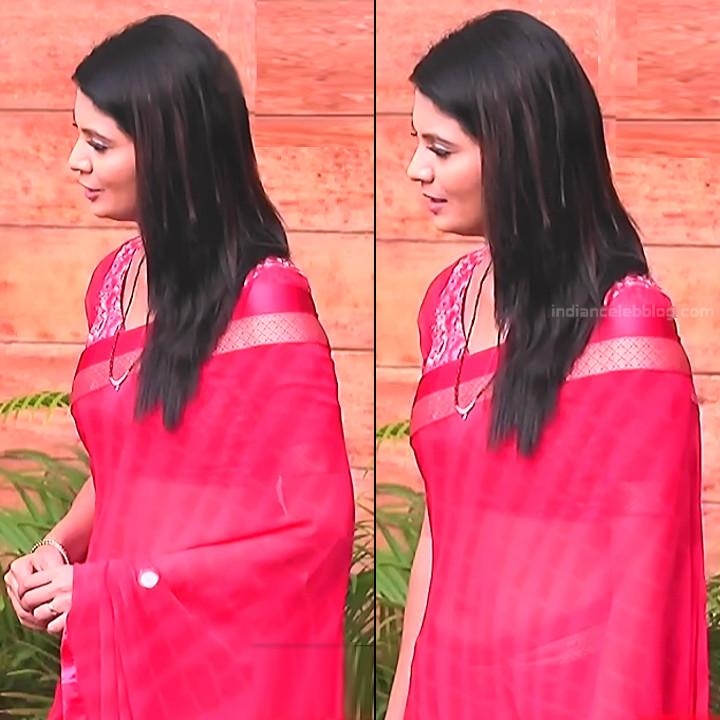 Shwetha R Prasad Kannada TV actress Radha RS1 4 Saree pics