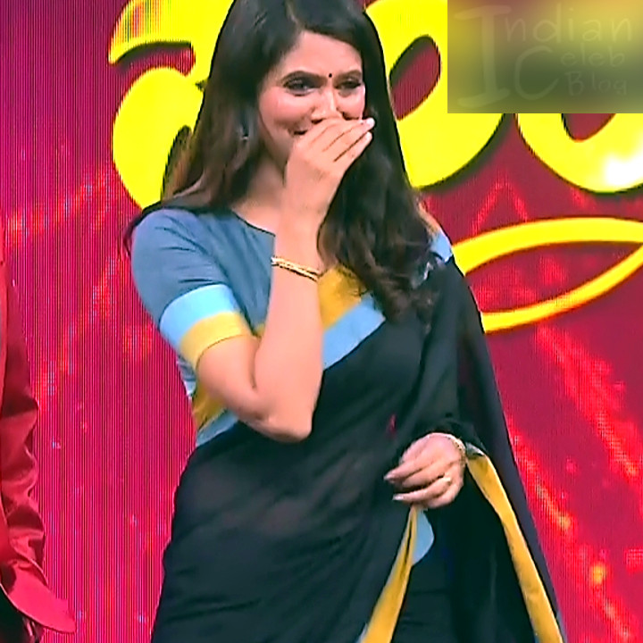Shwetha R Prasad Kannada TV actress Radha RS1 5 Saree photo