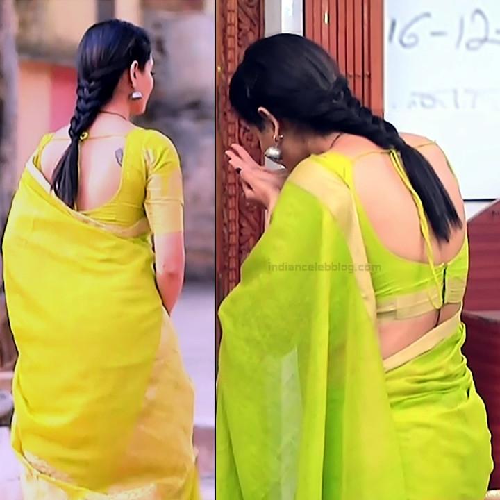 Shwetha R Prasad Kannada TV actress Radha RS1 7 Sari pics