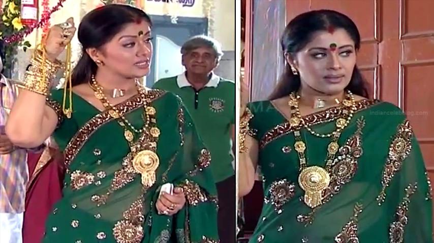 Sudha chandran tamil tv actress Pondatti TS2 5 hot saree caps