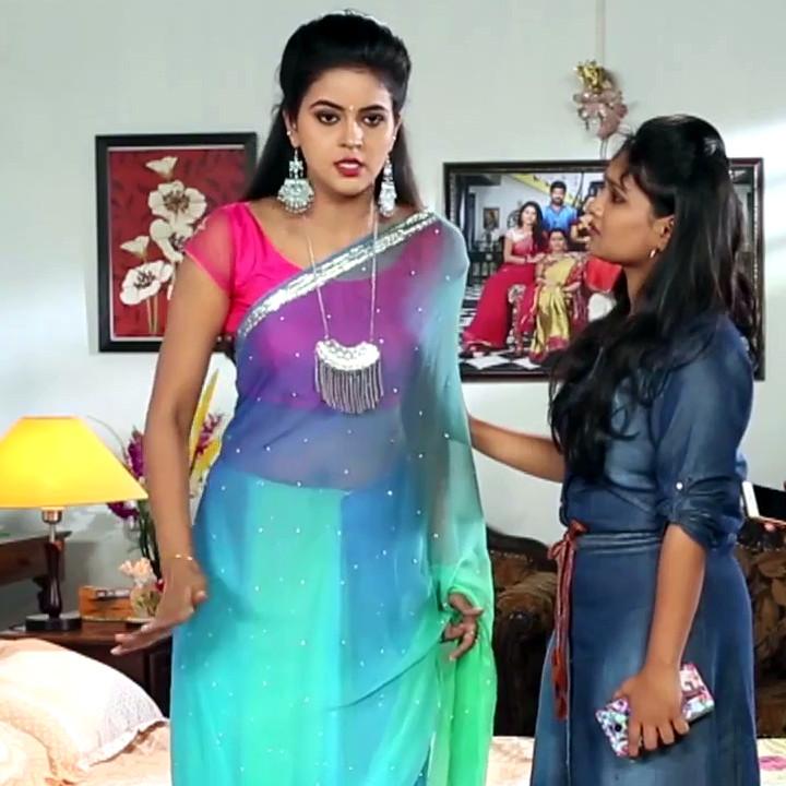 Chaitra reddy Tamil tv actress Yaarudi NMS1 8 hot sari photo
