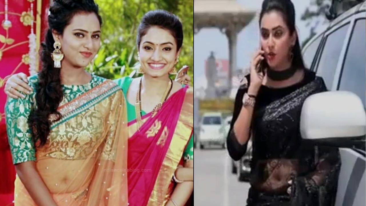 Priyanka Kannada TV actress Agnisakshi S115 hot saree pics