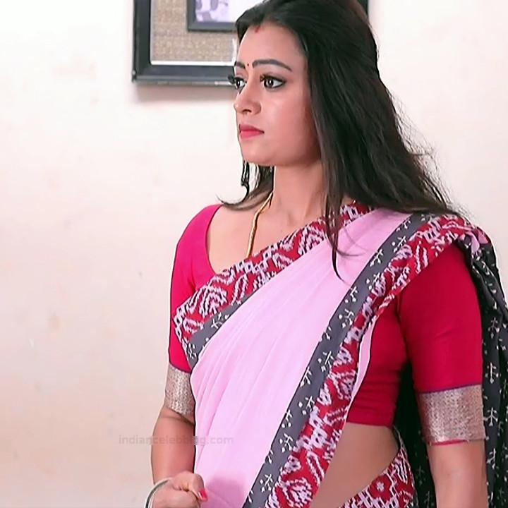 Sowmya rao Tamil tv actress Nenjam MS1 14 hot saree photo