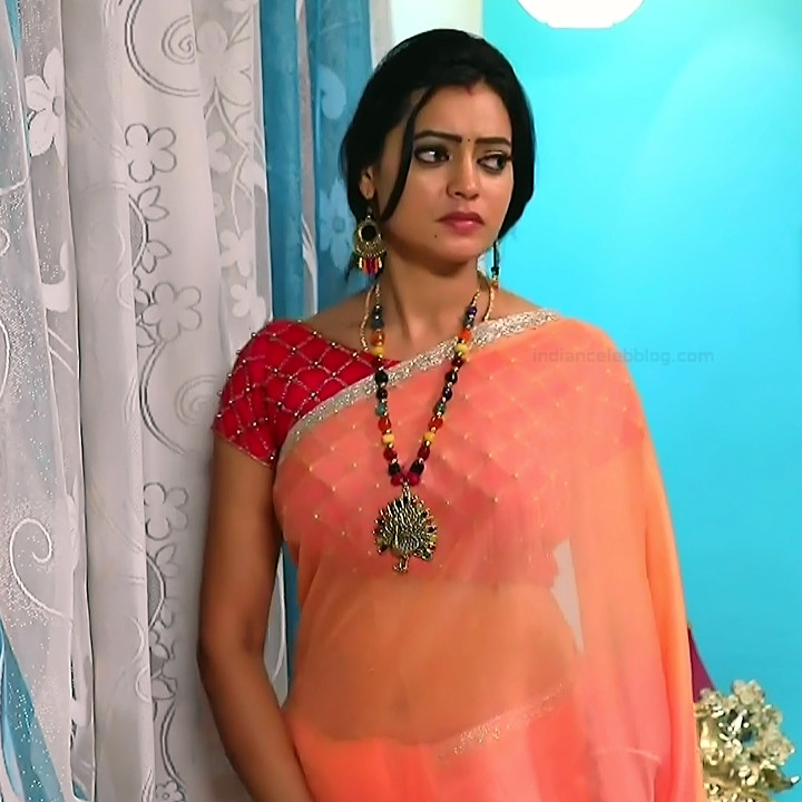 Sowmya rao Tamil tv actress Nenjam MS1 2 hot saree navel photo