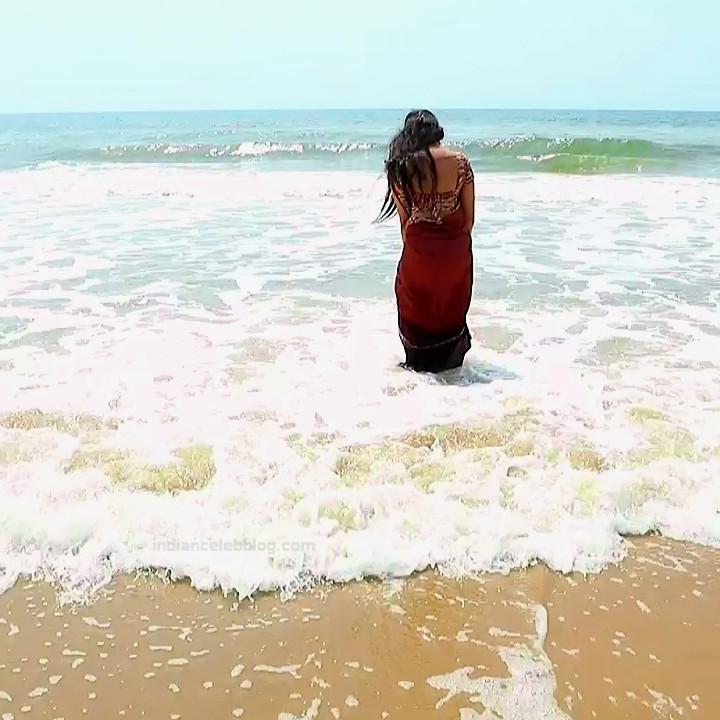 Sowmya rao Tamil tv actress Nenjam MS1 5 hot saree photo